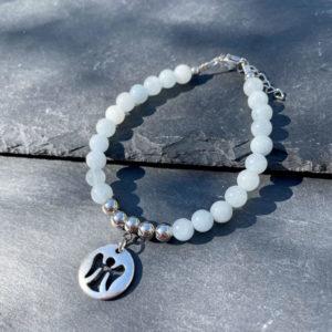 bracelet pour femme en aigue-marine Belle de lune
