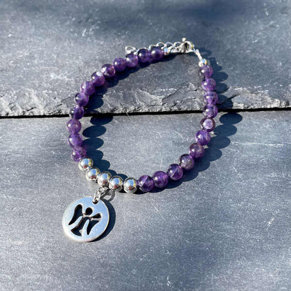 bracelet pour femme en améthyste Belle de lune