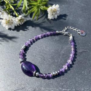 bracelet en amethyste pour femme belle de lune