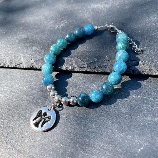 bracelet en apatite pour femme Belle de lune