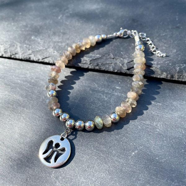 bracelet en labradorite pour femme Belle de lune