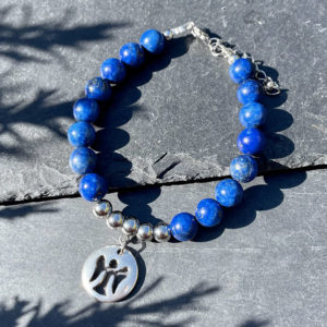 bracelet en lapis-lazuli belle de lune
