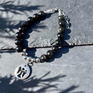 bracelet en obsidienne belle de lune