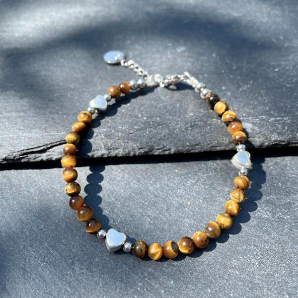 bracelet femme en oeil de tigre belle de lune