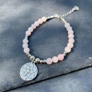 bracelet quartz rose belle de lune