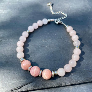 bracelet rhodochrosite belle de lune