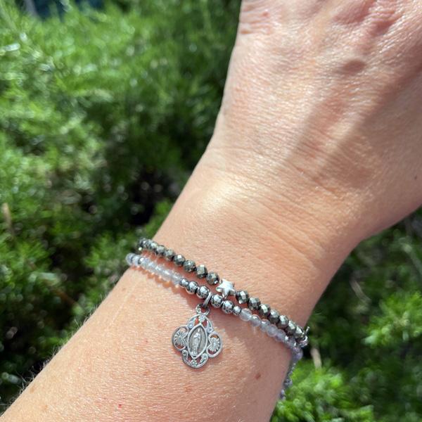 bracelet pour femme en labradorite BELLE DE LUNE